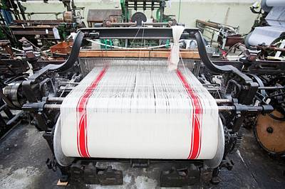 Weaving Cotton Cloth In The Weaving Shed Art Print