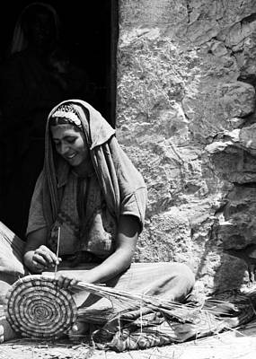 Photograph - Weaving Reed Baskets by Munir Alawi
