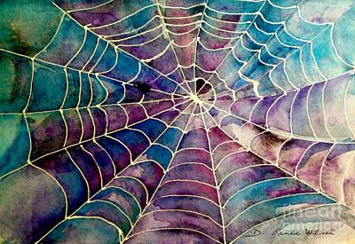 Web Art Print by D Renee Wilson