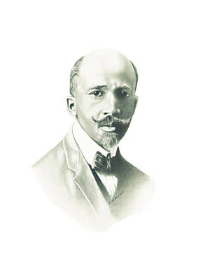 African American History Drawing - W.e.b Dubois by Gordon Van Dusen