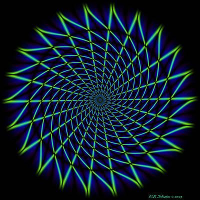 Digital Art - Web Mandala by WB Johnston