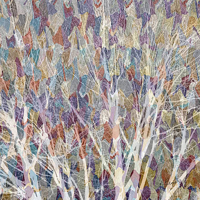 Colorful Abstract Mixed Media - Web Of Branches by Ruth Palmer