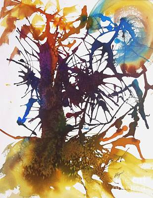 Painting - Web Of Life by Ellen Levinson