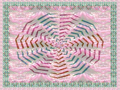 Champion Mixed Media - Web On Romantic Sensual Pink Texture  by Navin Joshi