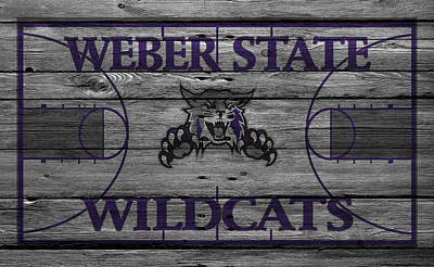 Weber State Wildcats Art Print by Joe Hamilton