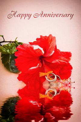 Photograph - Wedding Anniversary Card by Errol Wilson