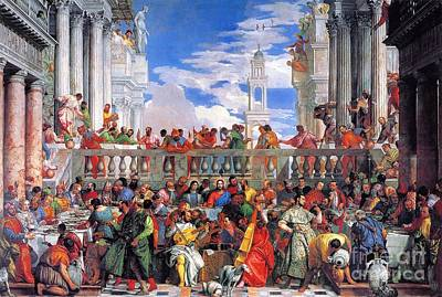 Italian Wine Painting - Wedding At Cana by Pg Reproductions