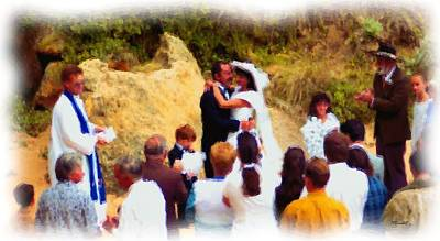 Digital Art - Wedding At Loch Ard Gorge by Dennis Lundell