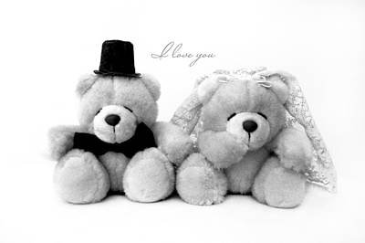 Photograph - Wedding Bears by Gina Dsgn