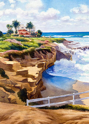 Coast Painting - Wedding Bowl La Jolla California by Mary Helmreich