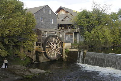Photograph - Wedding By The Old Mill by Laurie Perry