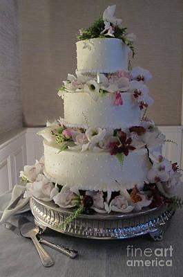 Chocoholic Photograph - Wedding Cake In Bloom by Arlene Carmel