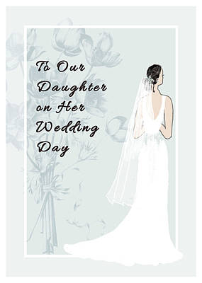 Drawing - Wedding Card To Daughter by Rosalie Scanlon