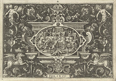 Wedding Feast Of Perseus And Andromeda, Print Maker Abraham Art Print by Abraham De Bruyn