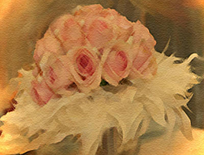 Mixed Media - Wedding Flowers by Dennis Buckman