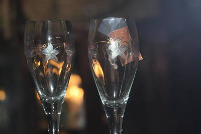 Photograph - Wedding Glasses by Donald Torgerson