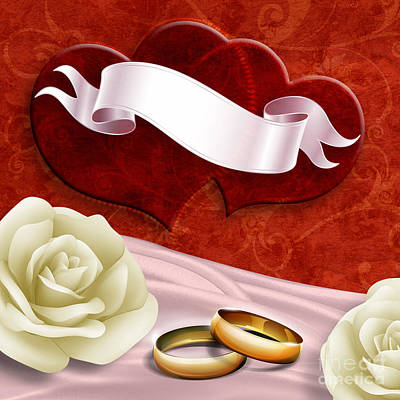 Anniversary Ring Digital Art - Wedding Memories V2 Passion by Bedros Awak
