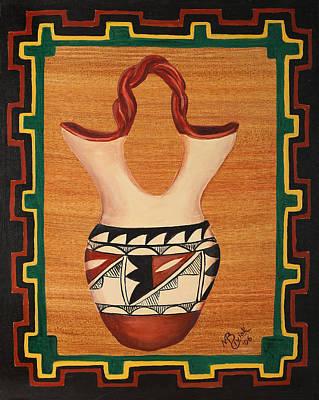 Wedding Vase Art Print by Mary Anne Civiok