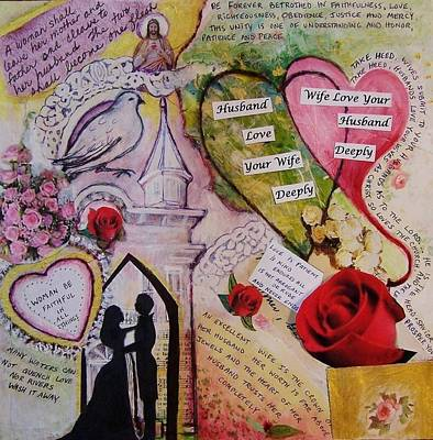 Betrothed Painting - Wedding Vows Of God - A Good Husband And A Good Wife by Dana Vacca
