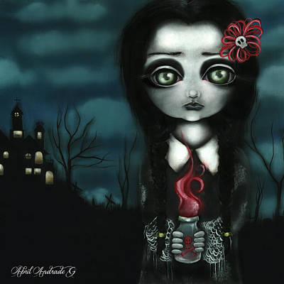 Pop Surrealism Painting - Wednesday  by Abril Andrade Griffith