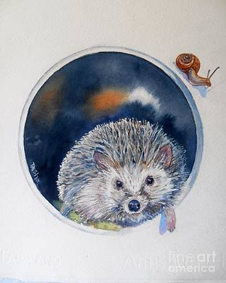 Hedgehog Art Print by Patricia Pushaw