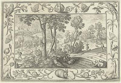 Weeds Among The Wheat, Adriaen Collaert, Eduwart Hoes Print by Adriaen Collaert And Eduwart Hoes Winckel