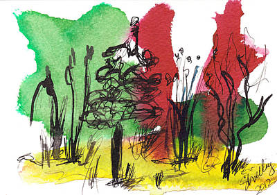 Painting - Weeds And Trees by Shelley Bain