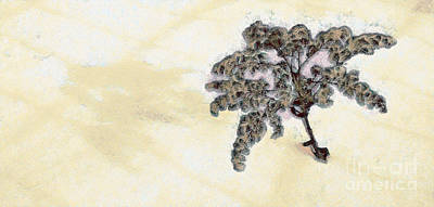 Weeds In The Snow Print by Odon Czintos