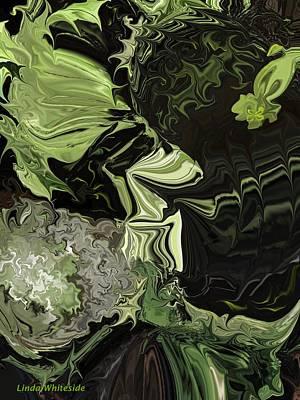 Art Print featuring the digital art Weeds The Gardener's Nightmare by Linda Whiteside