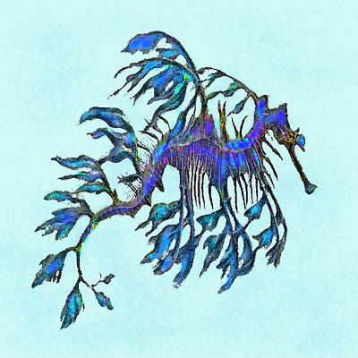 Digital Art - Weedy Seadragon by Jane Schnetlage