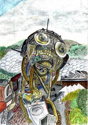 Weee Man Watercolour Original by Paul Howarth
