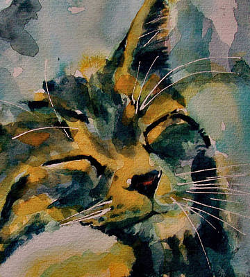 Tabby Cat Painting - Weeeeeee Sleepee by Paul Lovering
