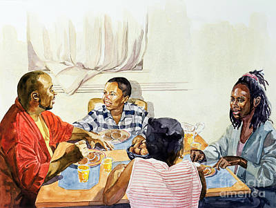 African American Art Painting - Weekend Breakfast by Colin Bootman