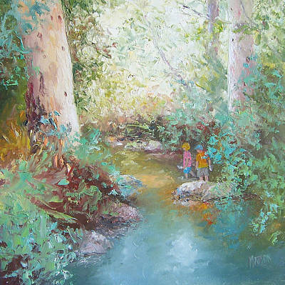 River Painting - Weekends At The Creek by Jan Matson