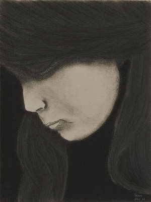 Sad Girl Drawing Drawing - Weeper by Sean Mitchell