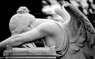 Photograph - Weeping Angel by AJ  Schibig