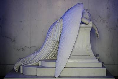 Weeping Angel Print by Candi Davidson