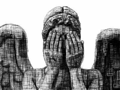 Weep Drawing - Weeping Angel by Harold Belarmino