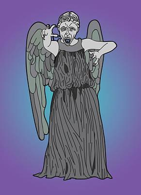 Weeping Angel Art Print by Jera Sky