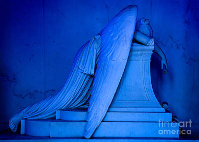 New Orleans Cemeteries Digital Art - Weeping Angel Statue by Jerry Fornarotto