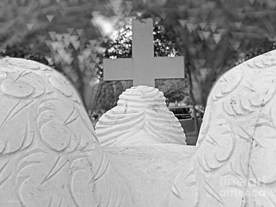 Photograph - Weeping Angel  Worship At The Cross by Ella Kaye Dickey