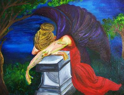 Cemetary Painting - Weeping by Jennifer Churchill