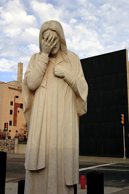 Photograph - Weeping Jesus Statue In Oklahoma City by Richard Smith