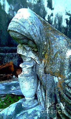 Print featuring the photograph Weeping Stone by Michael Hoard