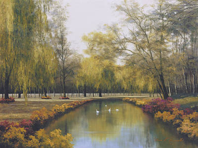 Painting - Weeping Willow by Diane Romanello