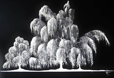 Painting - Weeping Willow In Ice by Thomas Kolendra