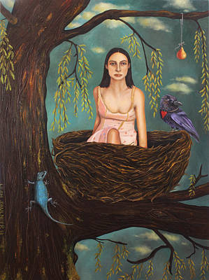 Weeping Willow Art Print by Leah Saulnier The Painting Maniac
