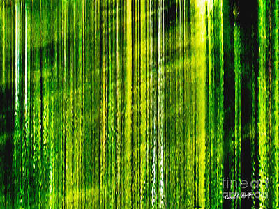 Weeping Willow Tree Ribbons Art Print