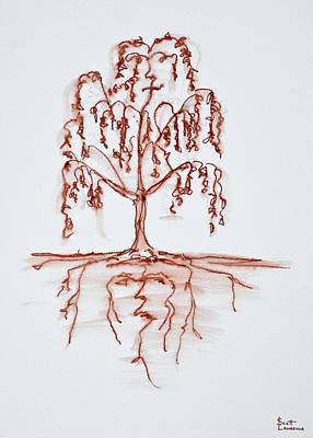 Weeping Willow Photograph - Weeping Willow With Heart And Soul by Richard Lawrence