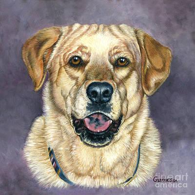 Golden Lab Painting - Weezer by Catherine Garneau